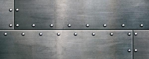 plaques de métal